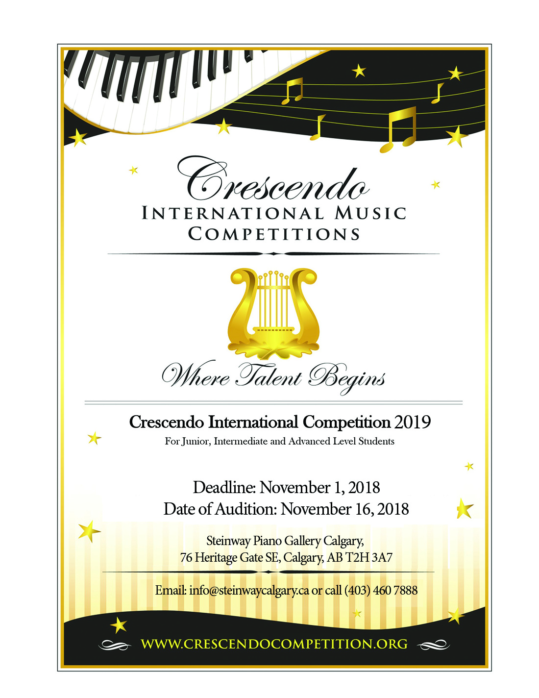 Crescendo International Competition 2019 - Steinway & Sons
